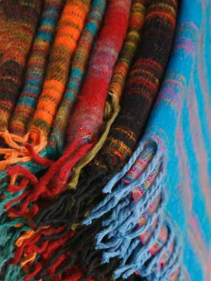 Wholesale Nepal shawls made in India in many vibrant ethnic colours