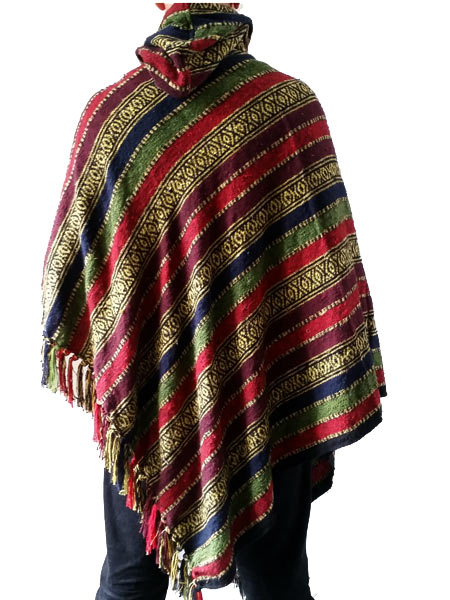 Hooded Mens Poncho Hippie Ponchos Wholesale Prices