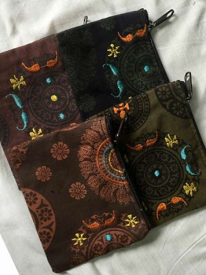 Embroidered-purses