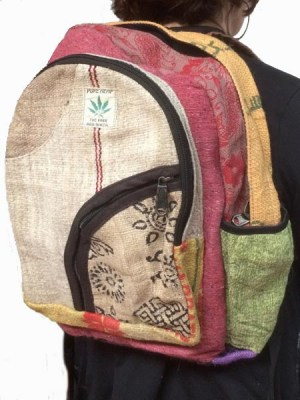 Funky hemp backpack from Nepal