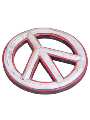 Wooden peace sign wall hanging