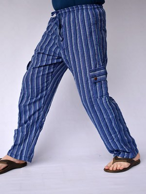 blue-stripe-cargo-pants