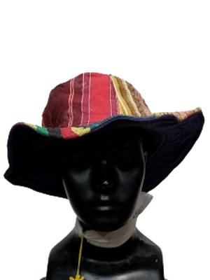 Pure patch hemp sun hat blended with cotton