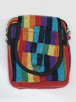 Hippie woven passport bag, made in Nepal.