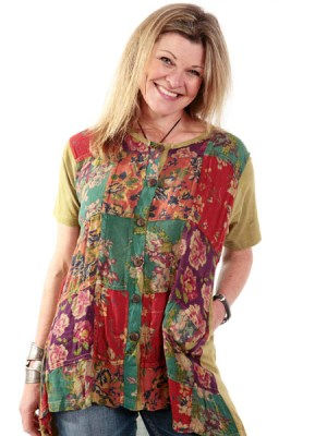Summer rayon flower top from Kathmandu Nepal