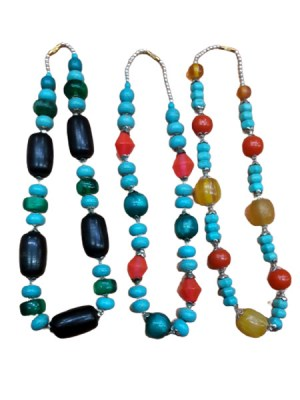 Ceramic beads handcrafted Himalayan Necklace