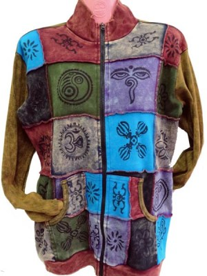 Ethnic Nepalese print patchwork Jacket