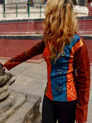 Kathmandu fashion top with hand painted designs