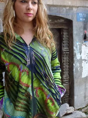 Funky ethnic hippie hoodie from Nepal