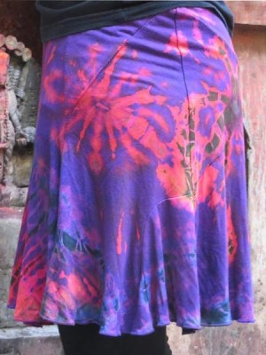 tie-dye-hippy-mini-skirt