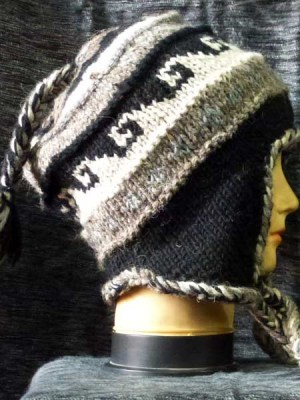 Ski sherpa hat in natural colors