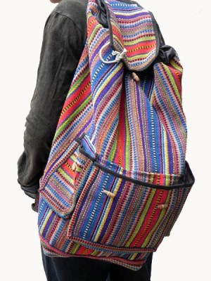 Woven school backpacks