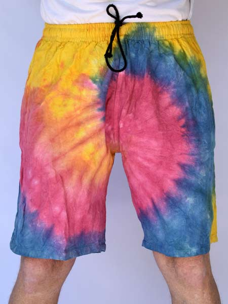 Tie Dye Shorts Hippie Festival Clothing